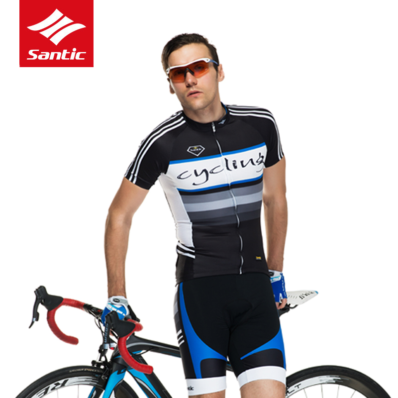 Santic Cycling Set Men Summer Racing Bike Bicycle Jersey Set Pro Team Short Sleeve Cycling Clothing Set Maillot Ciclismo S-3XL jersey suit summer mtb cycling clothing short sleeve pro team men s racing bike clothes maillot ropa ciclismo maillot breathable
