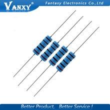 10pcs 3W Metal film resistor 1% 1R ~ 1M 4.7R 10R 22R 33R 47R 1K 4.7K 10K 100K 1 4.7 10 22 33 47 4K7 ohm