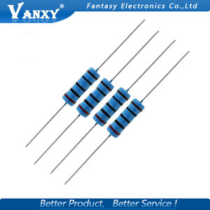 10pcs 3W Metal film resistor 1% 1R ~ 1M 1R 4.7R 10R 22R 33R 47R 1K 4.7K 10K 100K 1 4.7 10 22 33 47 4K7 ohm(China)