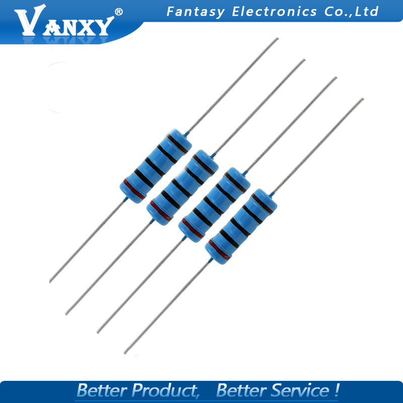 281-100K-RC 100K Ohm 1 Watt 5/% Metal Oxide Resistor 10 Piece Lot