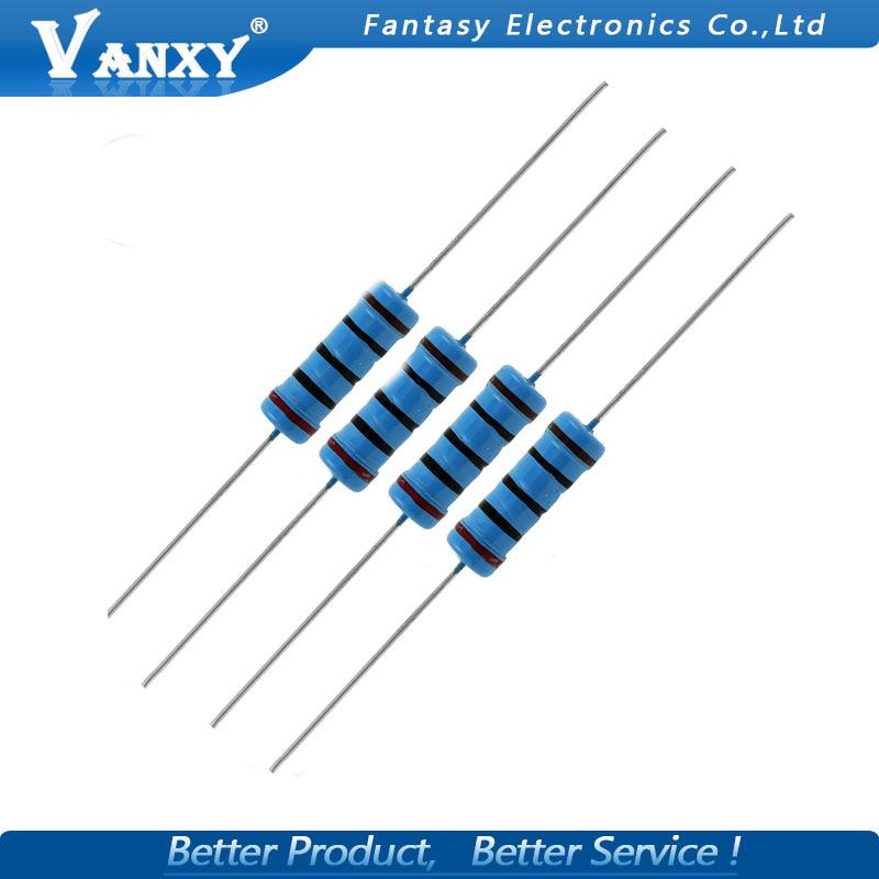 купить 20pcs 3W Metal film resistor 1% 1R ~ 1M 1R 4.7R 10R 22R 33R 47R 1K 4.7K 10K 100K 1 4.7 10 22 33 47 4K7 ohm онлайн