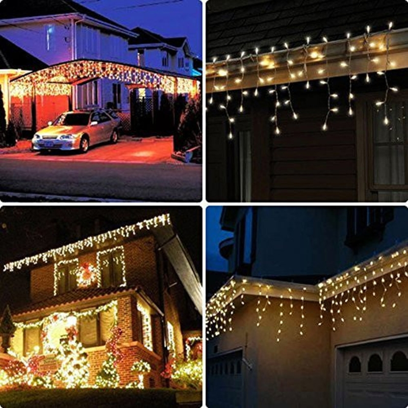 3x3m 448 LED Indoor Outdoor Curtain Fairy String Light Garlands Xmas Wedding Party