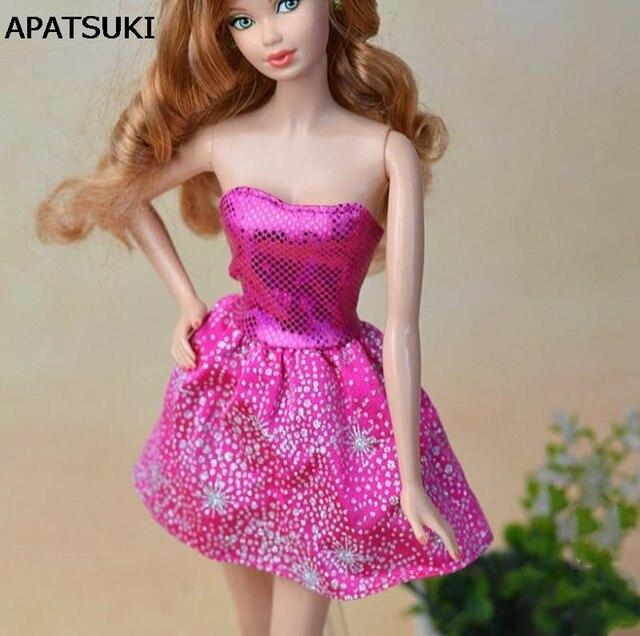 Alta calidad hecha a mano de la manera corto vestido para muñeca ...