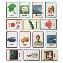 26 категорий 760 карты дети выучить английский текстовая карта Falshcards детские развивающие игрушки для детей раннего обучения настольная игра