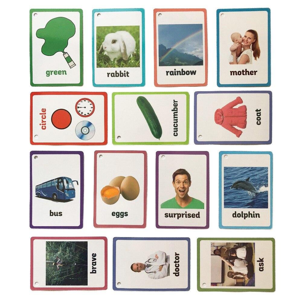 26 categorías 760 tarjetas niños aprender inglés palabra tarjeta Falshcards juguetes educativos para niños de los niños de Aprendizaje Temprano juego de mesa