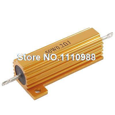 50W Power 0.2 Ohm Screw Tap Mounted Aluminum Housed Wirewound Resistor50W Power 0.2 Ohm Screw Tap Mounted Aluminum Housed Wirewound Resistor