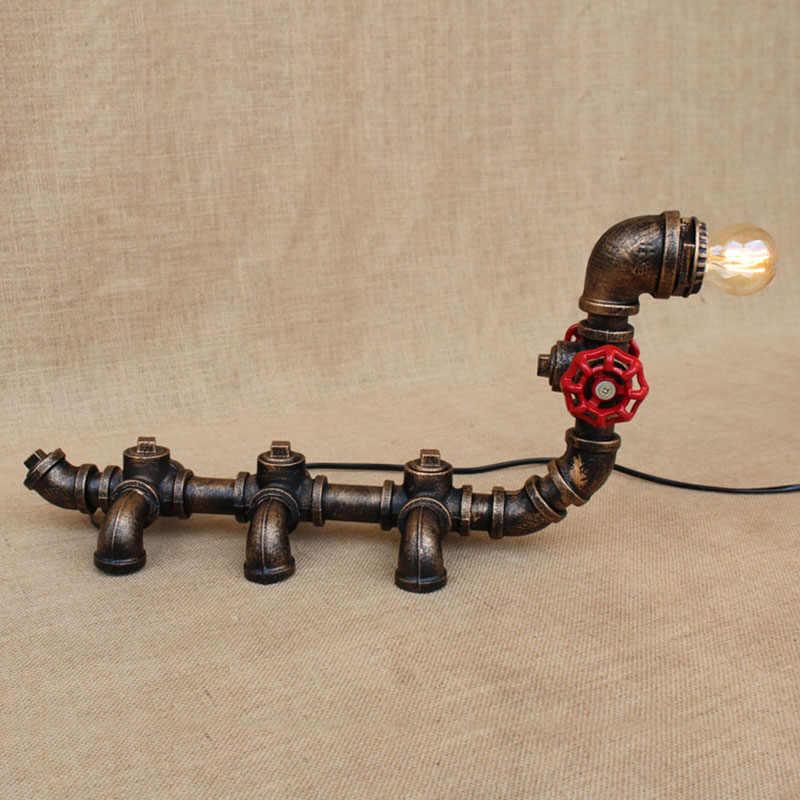 Американский кантри ар-деко животного caterpillar настольные лампы e27 исследование настольная лампа для постели спальня/гостиная/офис/ бар/кафе