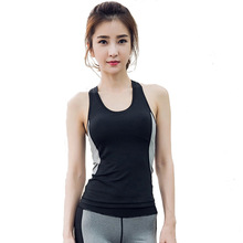 Women s Sports Wear Yoga Shirt Slimming Sportswear Running Fitness Clothes Workout Tank Top