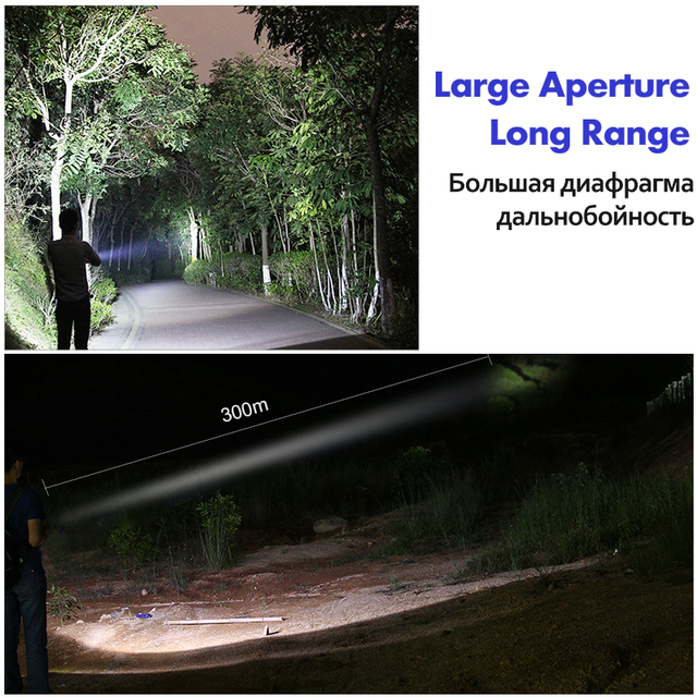 YAGE YG-332C XP-E 300-1000LM Aluminum Powerful CREE LED Waterproof Flashlight Tactica Torch light for 18650 Rechargeable Battery