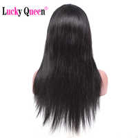 Brazilian Straight Lace Front Wigs With Baby Hair Non Remy Lace Front Wigs 100% Human Hair Wigs Lucky Queen Hair Products