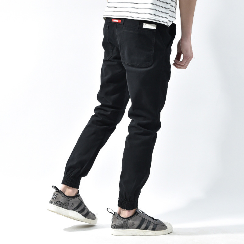 Fashion Japanese Style Mens Jeans Hip Hop Trousers Loose Fit pantalon hombre Drawstring Joggers Harem Pants Men Cargo Pants