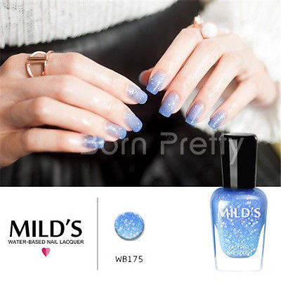 1 Bottle 7ml Thermal Change Color Temperature Nail Polish Shimmers