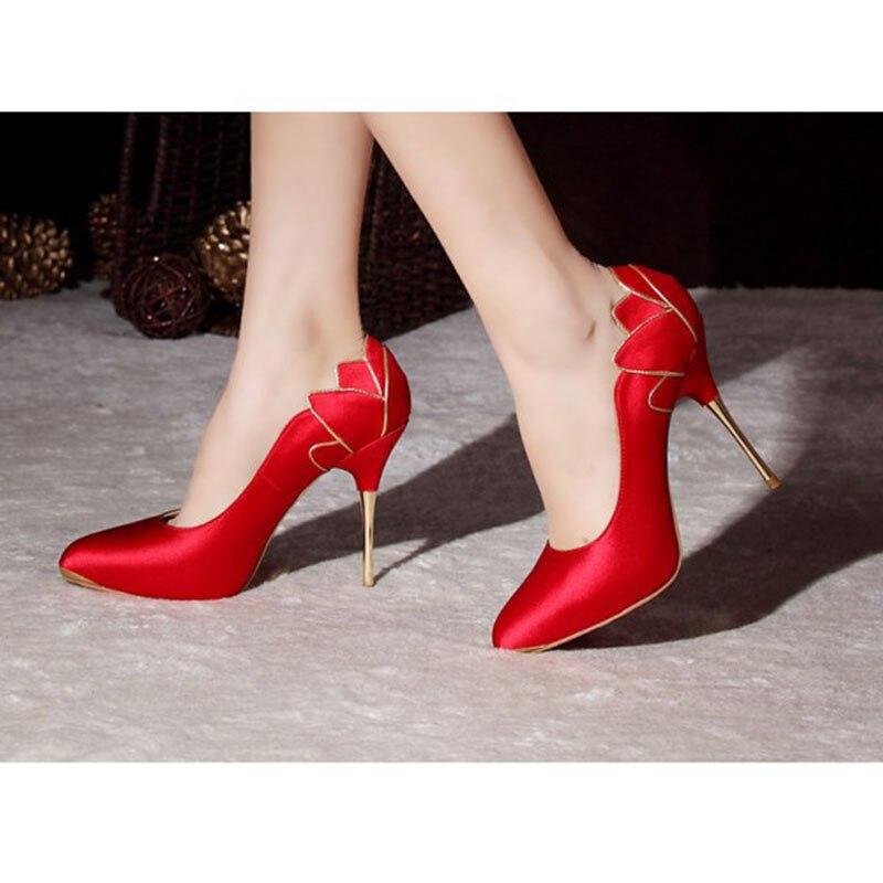 Dames Automne Grande Pointu Shoes11 De Printemps Talons 13 Fsj01 Pompes Fsj Chaussures Mariage 2018 Taille Stiletto 12 Femmes Rouge Bout q6wA6YxP