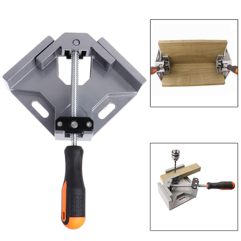Corner Clamps Making Cabinet 90 Degree Right Angle Clamps Wooden DIY Project Drawers Photo Frames Woodworking Corner Clip Fixer for Welding Adjustable Swing Corner Clamp Drilling 8PCS