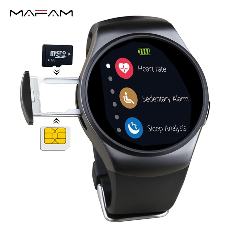 MAFAM KW18 Bluetooth Smart Watch Full Screen Support SIM TF Card Smartwatch Phone Heart Rate for apple ios gear s2 huawei xiaomi