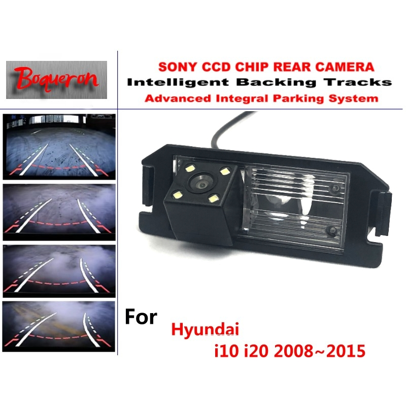 CCD HD Car Reverse Rear View Backup Camera for Hyundai i10 i20 2008~2015