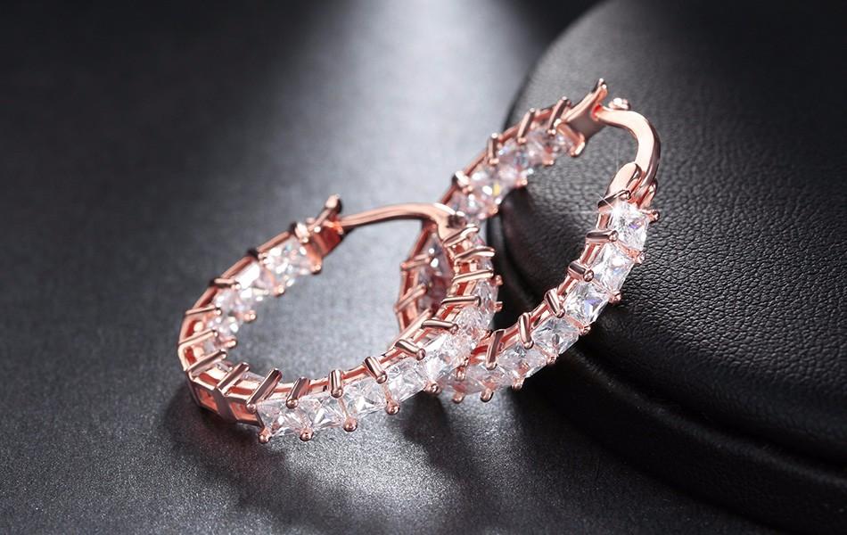 Effie Queen Big Round Hoop Female Earring Eternity Style with Shiny Zircon Bar Setting Luxury Earrings for Women Wholesale DE144 10