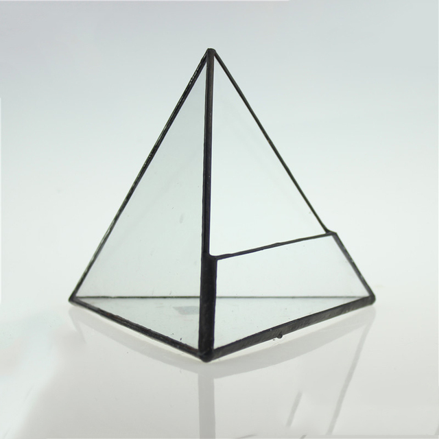 Three Pyramid Score+solder Drilling Succulents Borosilicate Glass  Triangular Glass Greenhouse