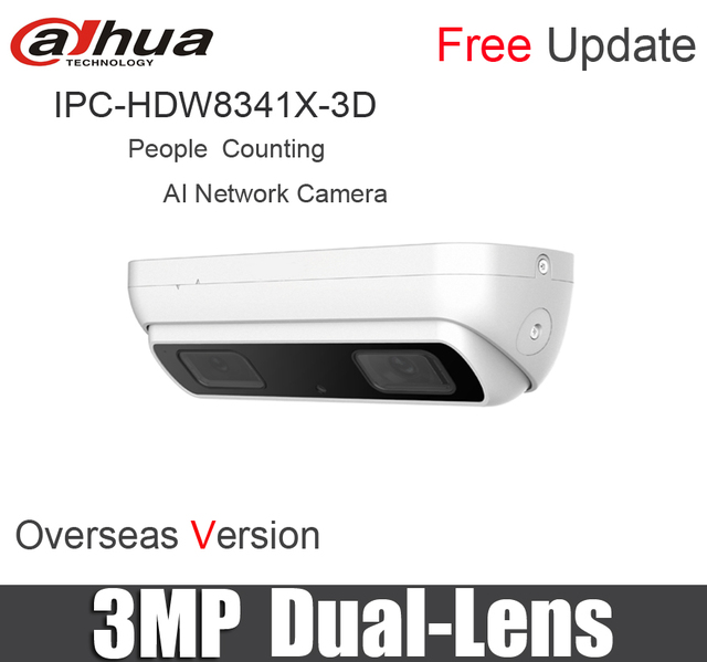 US $750 0 |DAHUA IPC HDW8341X 3D IP Camera H 265 POE 3MP Dual Lens People  Counting AI dual lens Network Camera HDW8341X 3D STARVISTM CMOS-in