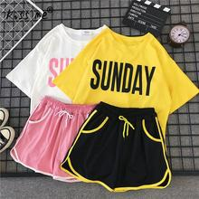Short Sleeve Sport Suit Gym Shorts Running Workout Suit Yoga Set Women Fitness Clothing Sportswear Woman Gym Two Piece Wear