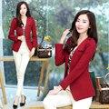 2016 summer fashion mulheres blazer terno cardigan básico puff luva senhoras mais casacos de marca ocasional blaser blazer feminino