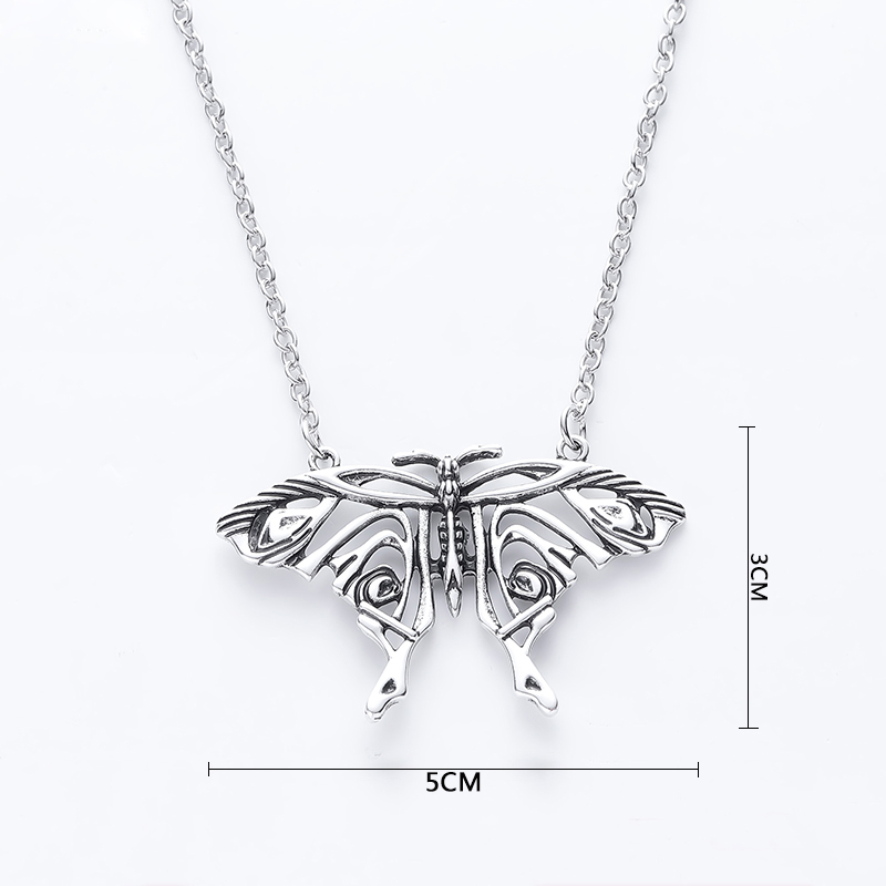 Mamma Миа ожерелье, кулон из античной бабочка подвеска в форме большой бабочки Костюм ожерелье Модные украшения аксессуары больших размеров д...