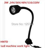 Free shipping 3W 24V machine work lights / LED soft Flexible light bar / Milling Light Waterproof CNC equipment tool lamp