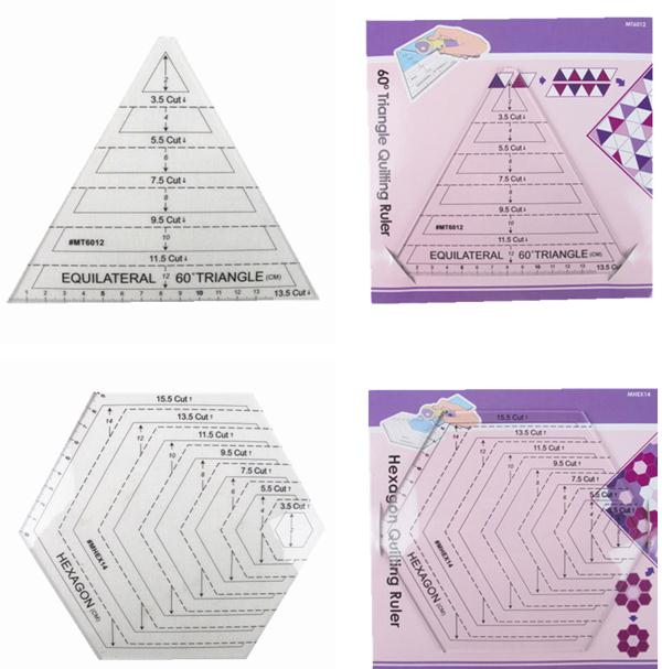 Aliexpress.com : Buy American Patchwork ruler,template drawing Patchwork tools,Polygon plastic ...