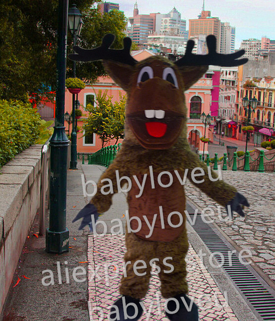 Best Quality long plush deer sven mascot fursuit pa Mascot Costume Carnival  fancy Dress Adult Size Free Shipping pw-in Anime Costumes from Novelty &  Special ...