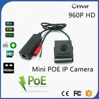 High Quality 40x40mm Mini Size H.264 P2P 1/3 Cmos Hi3518 DSP 1.3 Megapixel 960P HD ATM Machine Onvif Pin hole IpCamera Poe Small