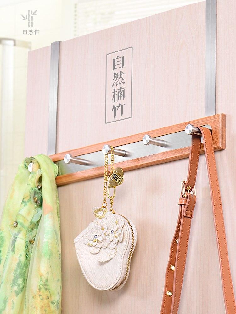 Noir Viscose porte crochet étagère de rangement créatif manteau crochet mural Long mur crochet salle de bains accessoires 304 acier inoxydable