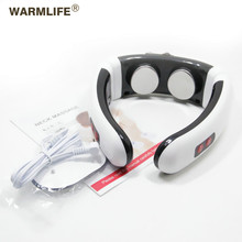 Electric Pulse Back and Neck Massager Infrared Heating Pain Relief Tool