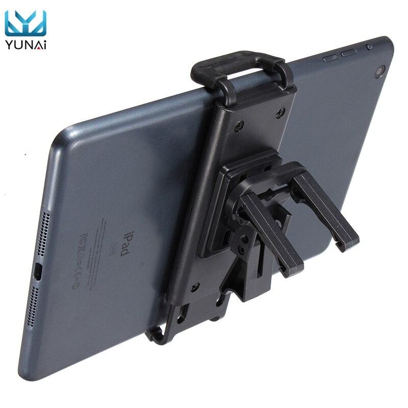 Yunai Новый Универсальный Автомобиль Air Vent Телефон Планшеты держатель Подставка для Iphone для Samsung для iPad мини <font><b>1</b></font> <font><b>2</b></font> авто держатели для планшета дер&#8230;