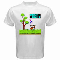 New DUCK HUNT Retro Classic Video Game Men S White T Shirt Size S To 3XL