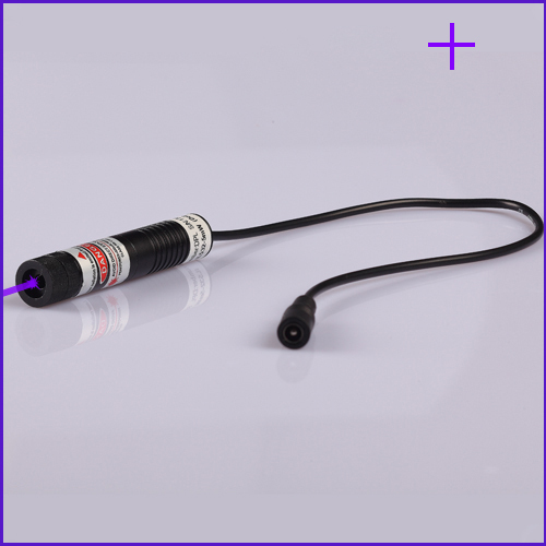 ФОТО 50mW 405nm Cross (Gauss beam) Violet laser alignment with power supply, Plug and use, SIZE 16X72mm