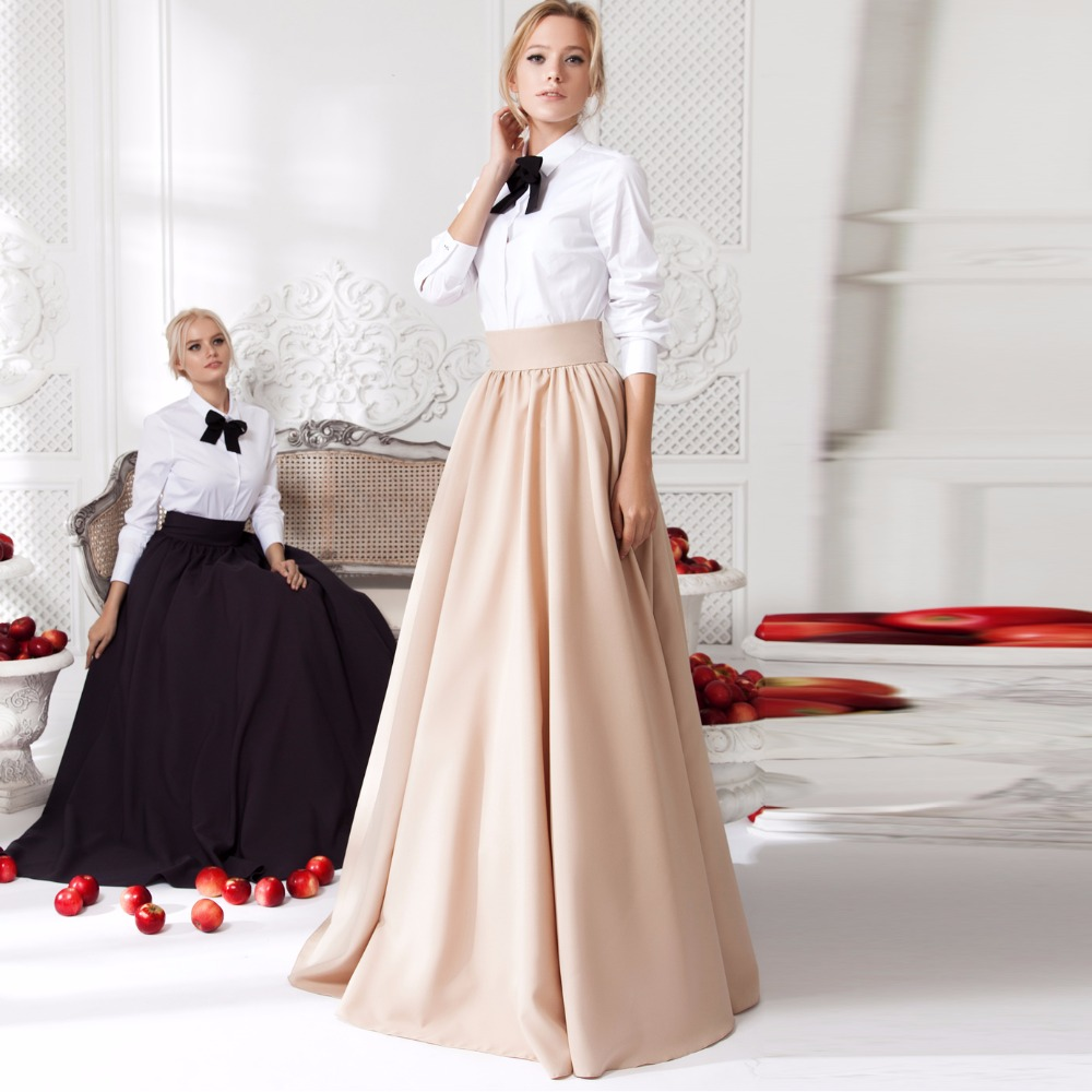 Широкий пояс и юбка в пол