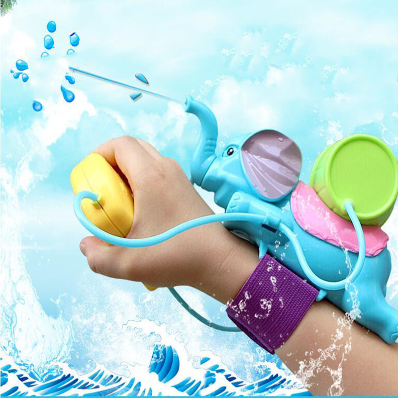 Kids Elephant Water Spray Elephant Play Water Toys Summer Water Hammer Wrist Water Gun Outdoor Interactive  Toys For Children