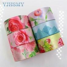 Цветочные атласные ленты yjhsmy 1711141 25 мм 10 ярдов для шитья