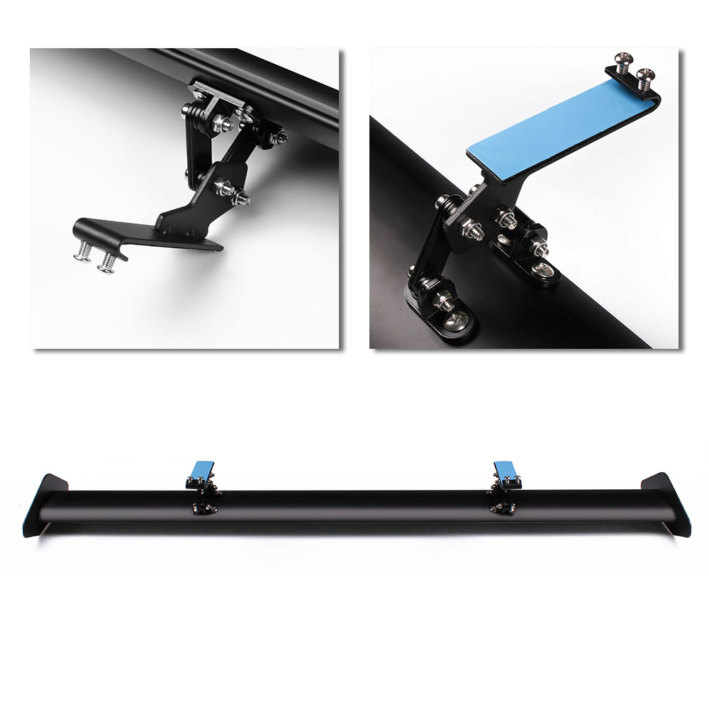 RASTP 43 3 quot Black Auto Car Hatchback Spoiler Universal GT Rear Trunk Wing Racing Spoilers Adjustable Aluminum RS LTB125 3 in Spoilers amp Wings from Automobiles amp Motorcycles