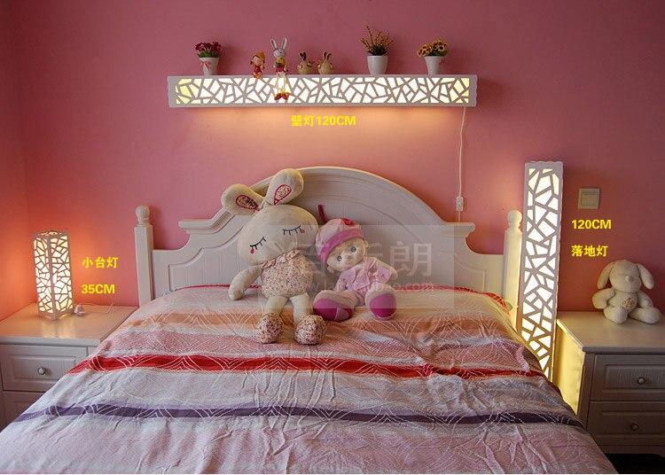 Современный минималистский гостиной настенные резные фоновой LED лампа спальня ночники полки Бра Творческий