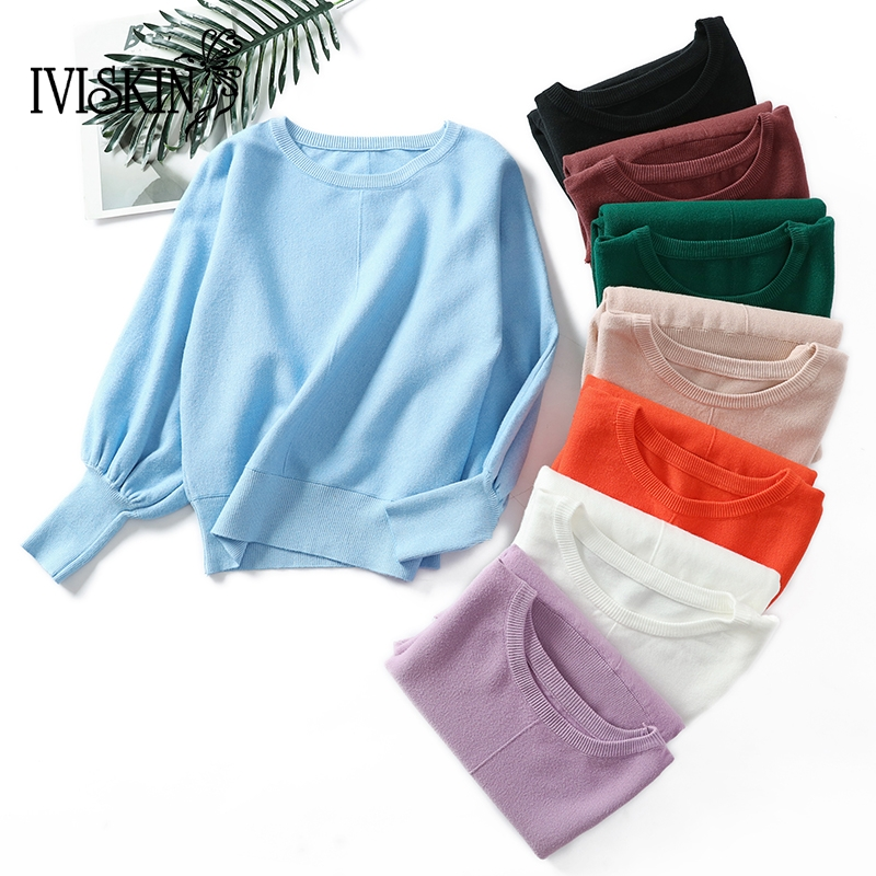 Sweater Women Pullover Knitted Winter Women Sweaters 2018 Autumn Women Fashion Lantern Sleeve Casual Plus Size Sweater Jumper