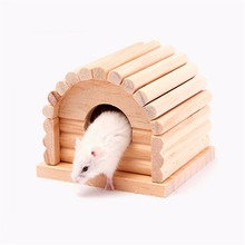 Clearance Sale font b Pet b font Rabbit Hamster Small Animal House Bed Wood Mouse Rat