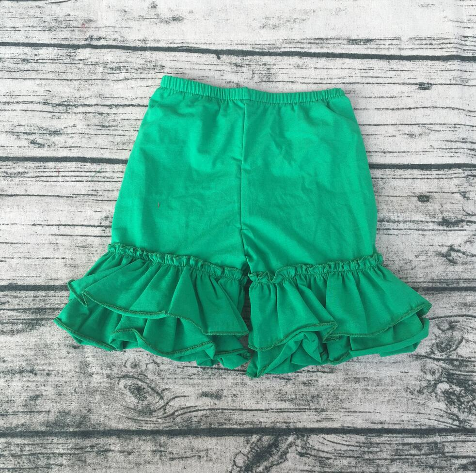 China wholesales Casual style kids clothes Solid Girls shorts toddle girls icing ruffle pants cotton kids clothes summer
