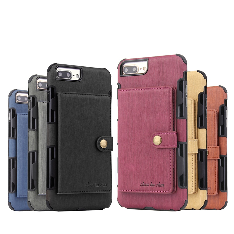 Luxury Vintage Wallet Case For iPhone 8 7 X XS Max Card Holder Case For iPhone 8 7 6 6S Plus XR Leather Shell iphoneX iphone6