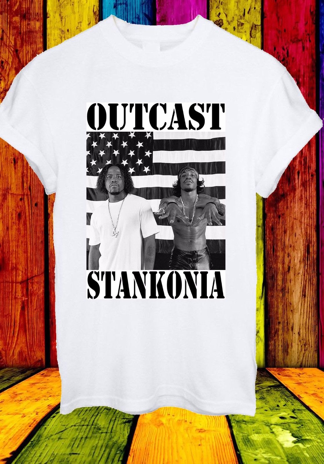 Outkast Stankonia Album Cover American Hip Hop Rap Men Women Unisex T-shirt 733 Cotton Low Price Top Tee For Teen Girls image
