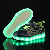 Jawaykids New Hidden Switch Usb Charging Lighting Sneakers Kids Running Led Luminous Kids Shoes Girls Boys