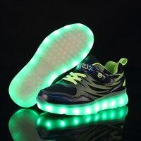 Jawaykids New Hidden Switch Usb Charging Lighting Sneakers Kids Running Led Luminous Kids Shoes Girls Boys