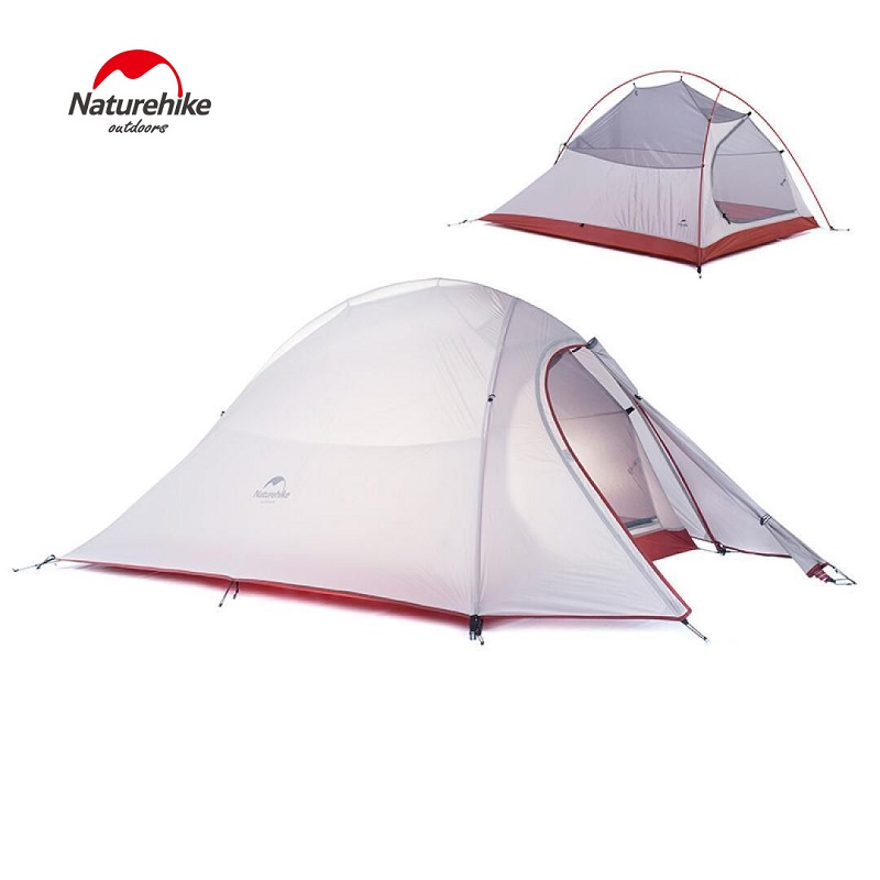 NatureHike outdoor camping tent 2 person 3 season Double-layer barraca camping tente waterproof ultralight tents good quality flytop double layer 2 person 4 season aluminum rod outdoor camping tent topwind 2 plus with snow skirt