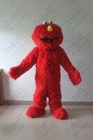 elmo costume walking plush sesame street elmo mascot costumes long fur cute red monster
