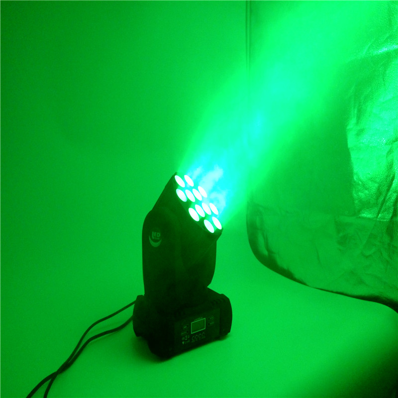 4pcs/lot LED Beam Moving Head Light 12x12W RGBW Stage Lighting Quad LEDs With Excellent Pragrams DMX 9/16 Channels DJ Diaco